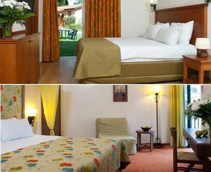 שני חדרים עם דלת מקשרת(כפרי/קלאסי)-מלון הגושרים בטבע