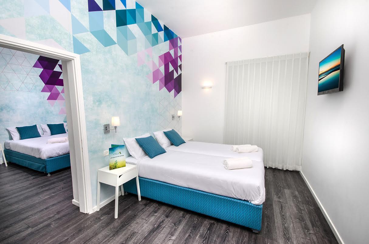 יחידה משפחתית עם שני חדרי שינה- מלון מטיילים מטולה