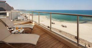 חדר דלקס נוף לים עם מרפסת  - מלון אורכידאה תל אביב